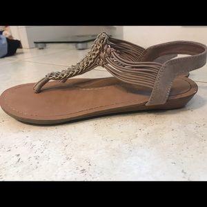 Madden Girl Nude Sandal